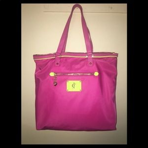 Juicy Couture Penny Nylon Pink Neon Purse Bag Tote
